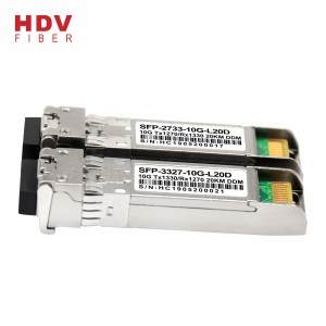 SFP 10G bidi 1270nm / 1330nm optical fiber ကို transceiver ကို 20KM sfp module တစ်ခု 10g