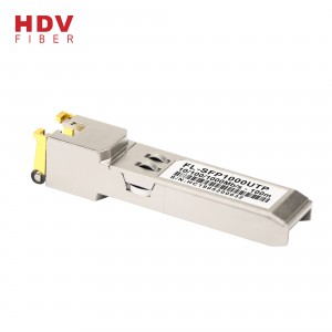 sfp modul en port rj45 10/100 / 1000M Base-T 100m optisk transceiver sfp koppar