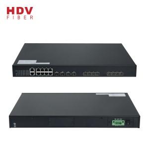 ISO9001 Certificated AC Input 100~240V 8 * GE Ports RJ45 And 4*10G SFP+ Ports For Uplink 8 Epon OLT