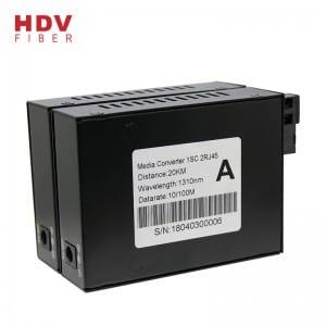 10/100M Media Converter 20KM SC 2Rj45 Fiber Optical Media Converter