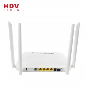 For FTTH PON Solutions 2.4G&5G 4GE+4WIFI+1POTS+1USB Dual Band AC GPON XPON ONU