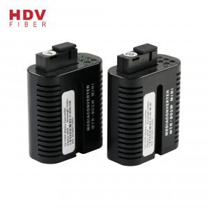Ftth 20KM Mini media converter fiber optic to rj45 SC port media converter