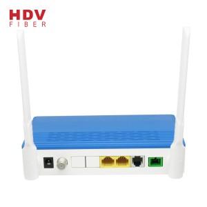 ftth modem fiber optic equipment 1ge+1fe+wifi+voice+catv epon onu compatible with olt