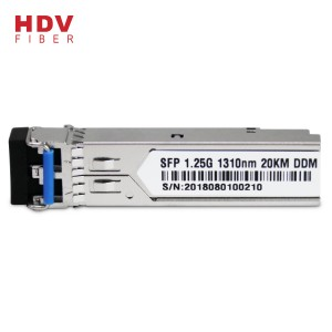 1.25G 20KM 1310nm Dual Fiber Single mode SFP module